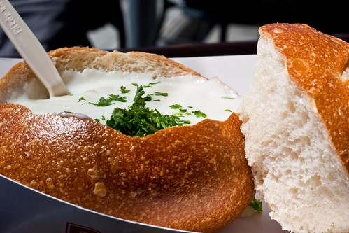 Clam Chowder at Boudin Cafe, Fisherman's Wharf