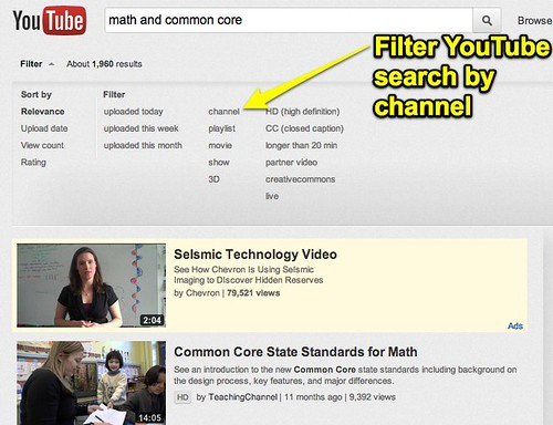 Filter YouTube Search Results by Channel