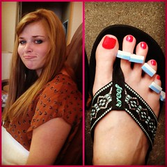 Aug 8, 2012 - took seester to get her first ever pedi before her surgery next week :)