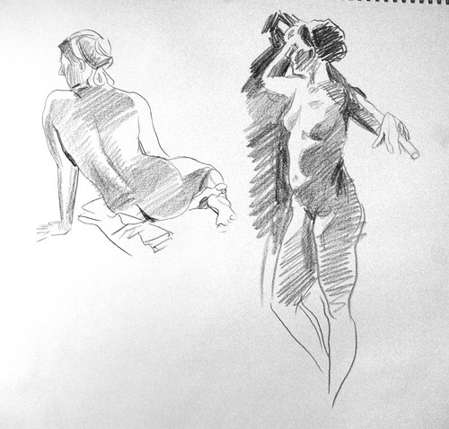 redline figure drawing session