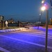 Deptford Wharf illuminated