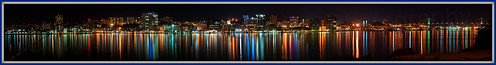 Full Halifax Night Panorama from Woodside Ferry terminal