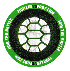 "Nickelodeon's ""Turtles Vs. FOOT "" - PRO-TMNT DECAL (( 2012 ))"