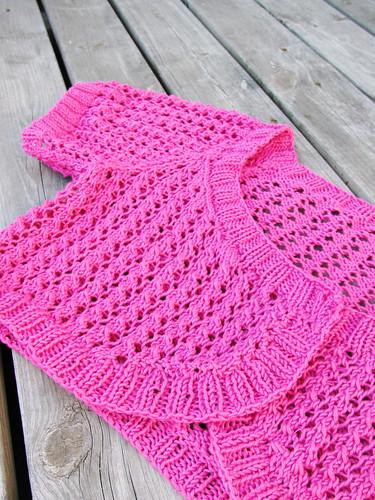Hot pink bolero