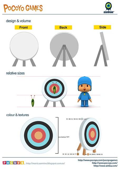 Pocoyo Games 2012 Target board