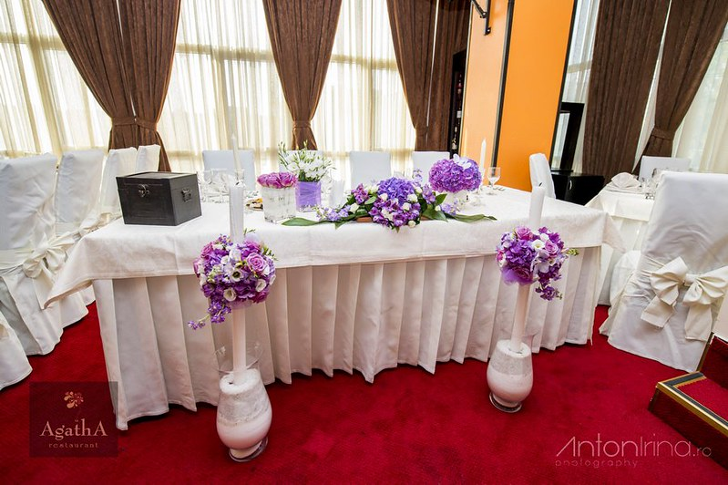 purple & lavender wedding flowers - nunta mov - lila