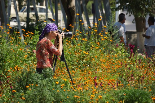 Christy at work in Bhukara