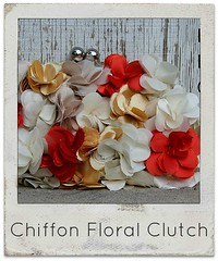 how to make chiffon floral clutch
