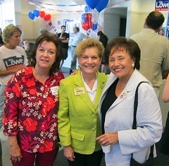 With Airmont Mayor Veronica Boesch and Assemblywoman Ellen Jaffee