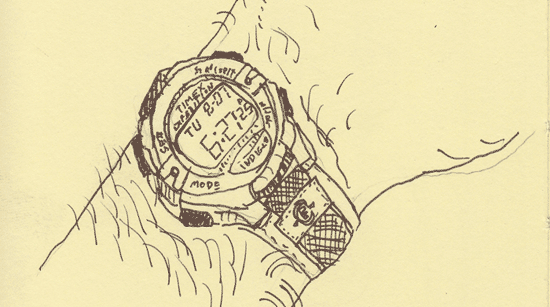 Sketch of my watch (Everyday Matters #8)