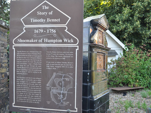 Monument to Timothy Bennet, shoemaker of Hampton Wick