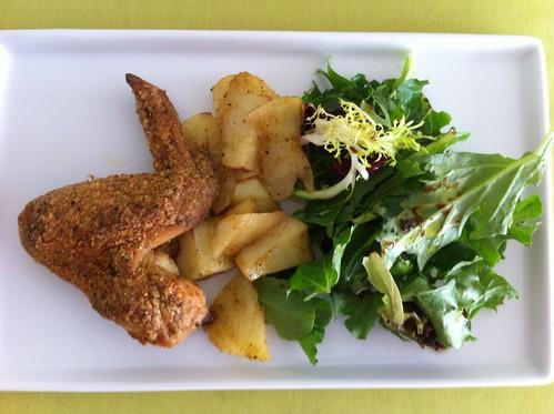 Dinner Oven Fried Chicken & Salad