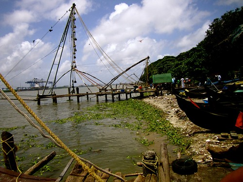 Chinese fishing net in Fort Cochin.