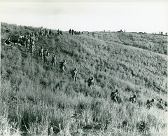 Marines Walk Over Hills, Guadalcanal, 10 January 1943