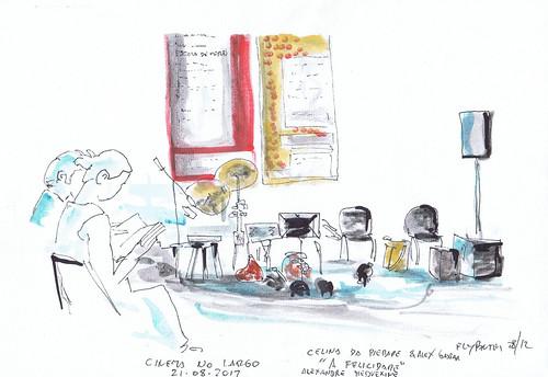 """2012-08-21 Cinema No Largo - Celina Da Piedade """"A Felicidade"""" (aquecimento)"""