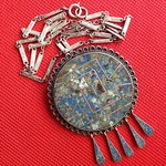 sterling stone Mexican pendant necklace