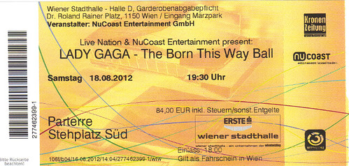 "Foto ""Lady Gaga- the born this way ball tour - Wien Samstag 18.08.2012"" by unpodimondo - flickr"