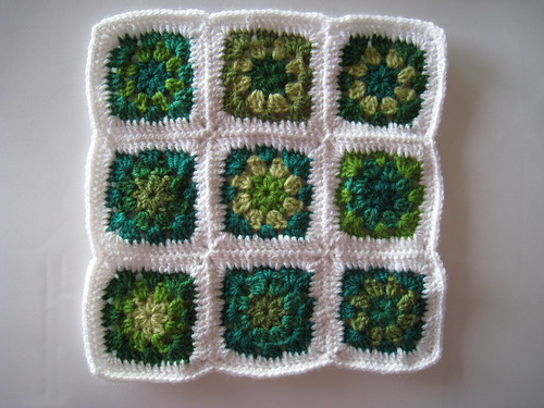 Green garden granny squares