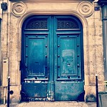 Favorite doorway candidate #9, blue in Belleville #Paris #lovingthemoment