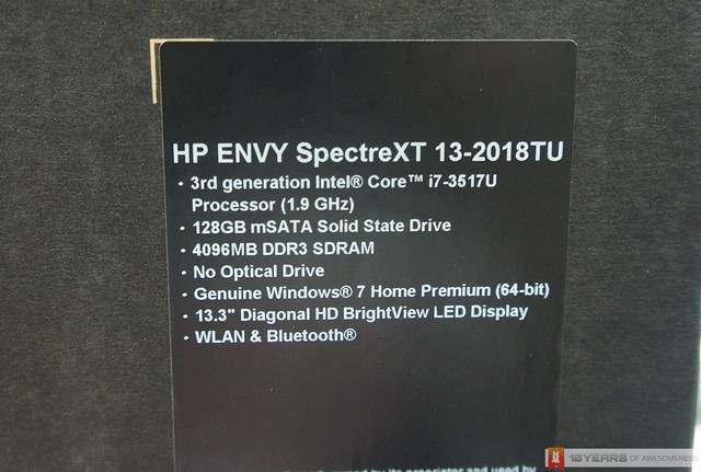 [Preview] HP Envy Spectre XT Ultrabook (Retail Unit)
