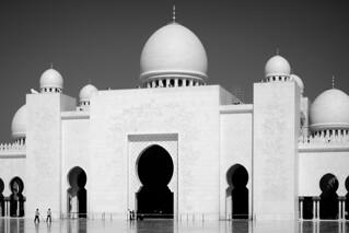 Image of Sheikh Zayed Grand Mosque near Abu Dhabi. abudhabi unitedarabemirates ae mosque grandmosque dome blackandwhite xt10 fujifilm