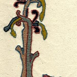 Dog & Tree, by Stamford Bridge Tapestry Project