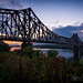 Monaca-Beaver PA Railroad Bridge at sunset