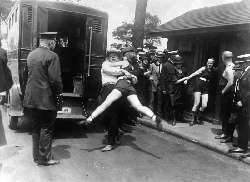 Bathing Suit Arrests, Chicago, 1922