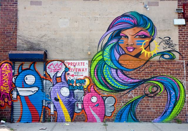 See One + Toofly, Welling Court Mural Project, 2012