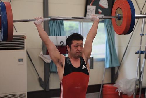 佐藤栄吉選手のクリーン&ジャーク