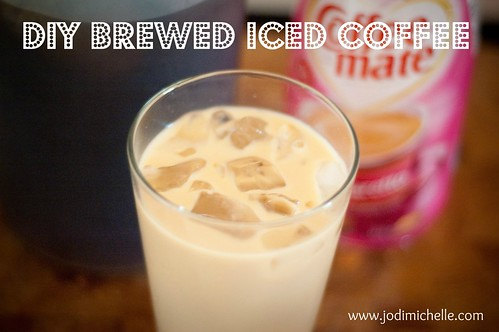 DIY brewed iced coffee