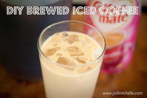 DIY brewed iced coffee