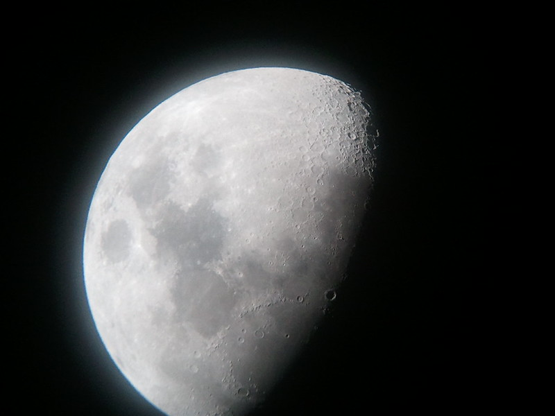 Moon via Cell Phone