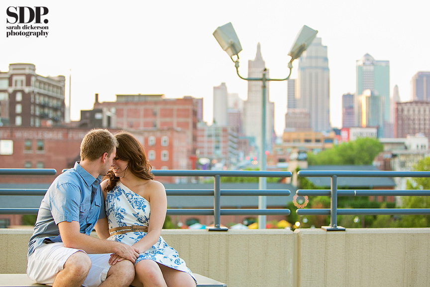 Downtown Kansas City engagement photos