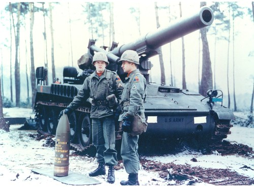 8-inch Howitzer Artillery Fired Atomic Projectile Army Photo