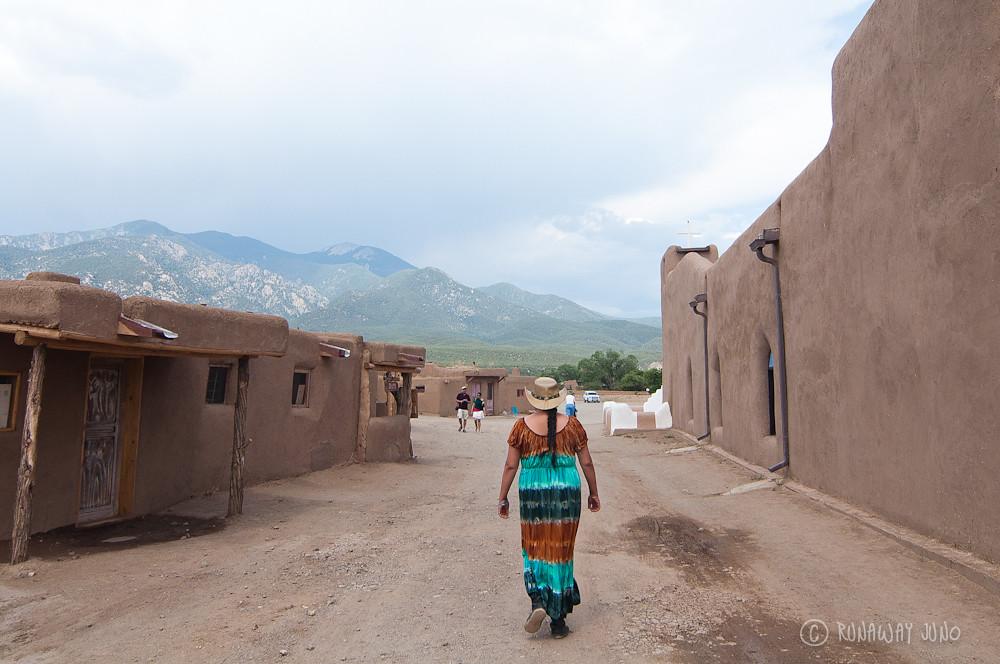 The entrance of Taos Pueblo