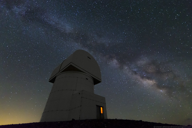 The Milky Way over Greece, Aristarchos Telescope