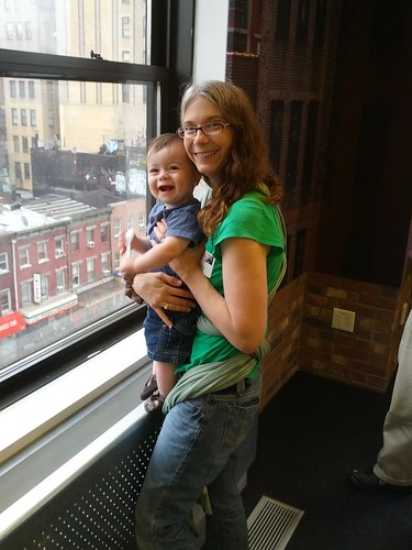 New York - Google - Sagan and Vicky Take in View From Cafe (Photo by Brian N)