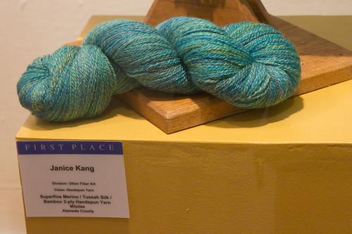 Superfine Merino / Tussah Silk / Bamboo 2-ply Handspun Yarn