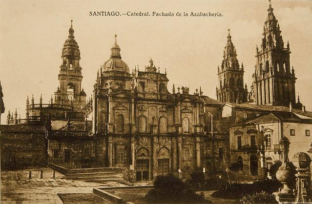 Santiago de compostela catedral fachada de la azabacher - Arrokabe arquitectos santiago de compostela ...