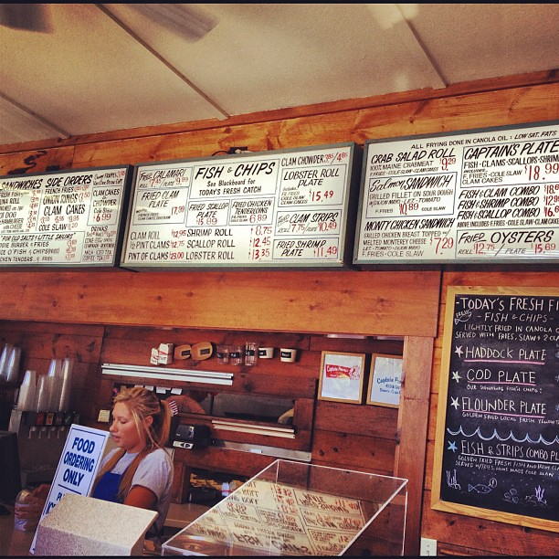 Lunch Time on The Cape #menu