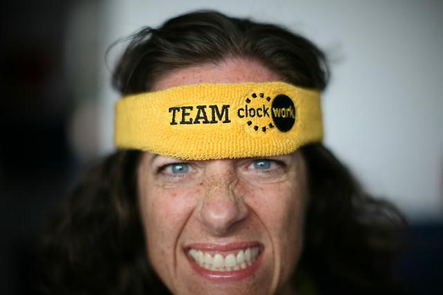 Fierce Emily, with Team Clockwork headband