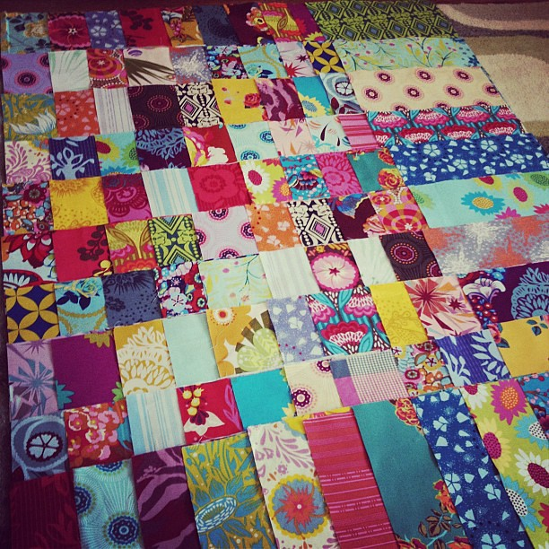 Working on my layout for my AMH fanatic quilt