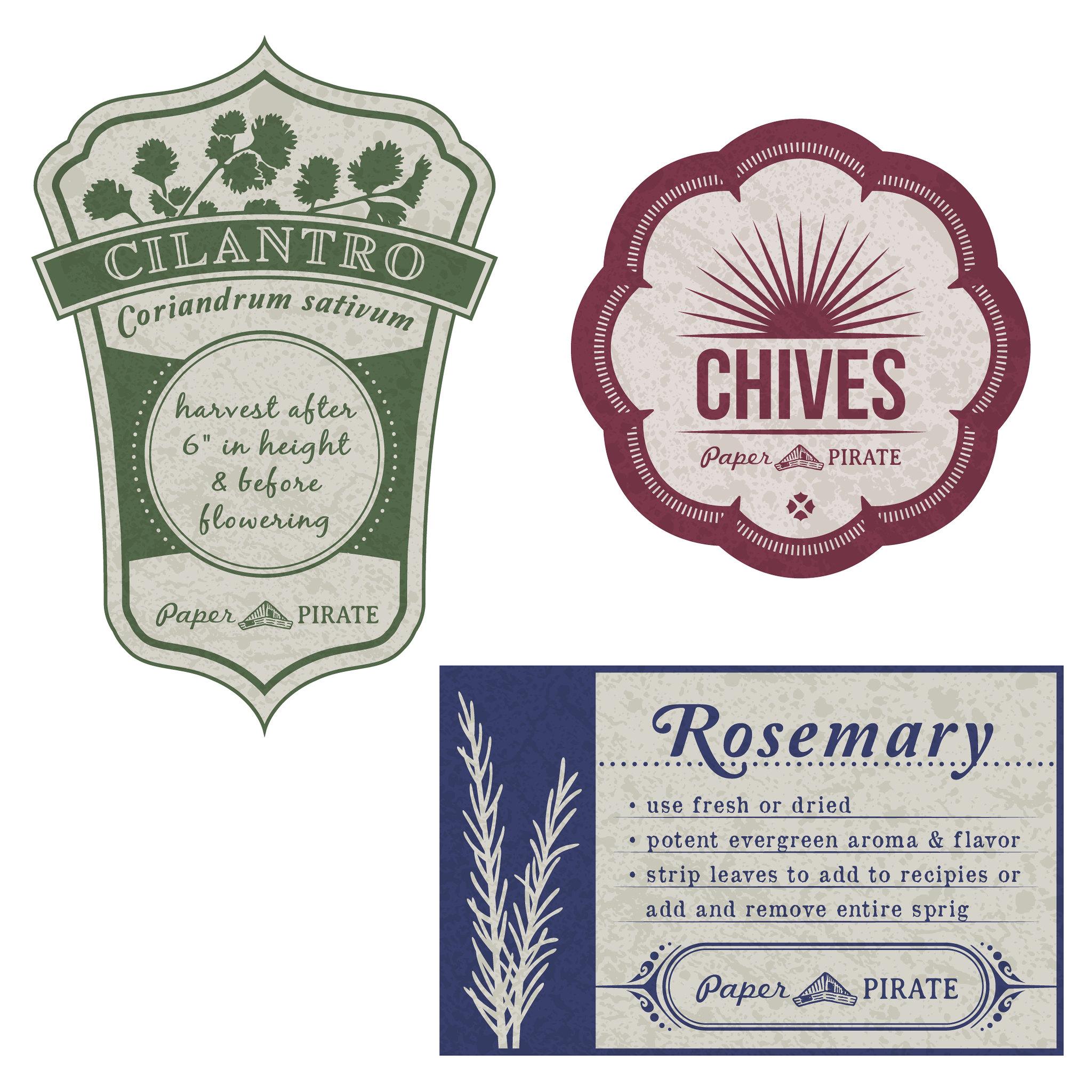 Herb Garden Jar Labels