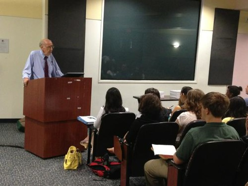 NSLC INTL Guest Speaker Colman McCarthy, Director of the Center for Teaching Peace