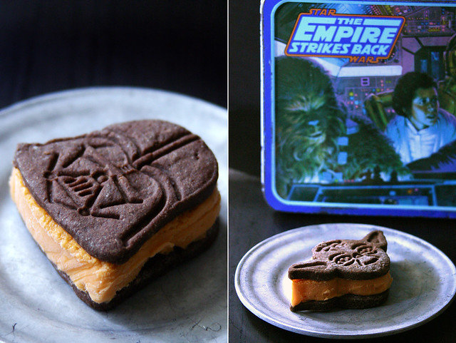 Star Wars Thai Iced Tea Ice Cream Sandwiches by {local milk}