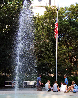 Fountain, Flag and Relaxing