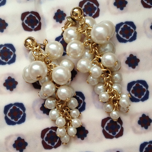 grape cluster pearl earrings