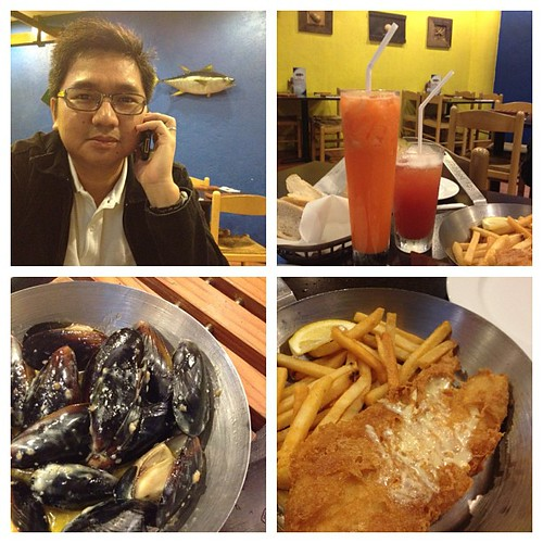 Satisfied my fish and chips craving! Great dinner with my handsome date.