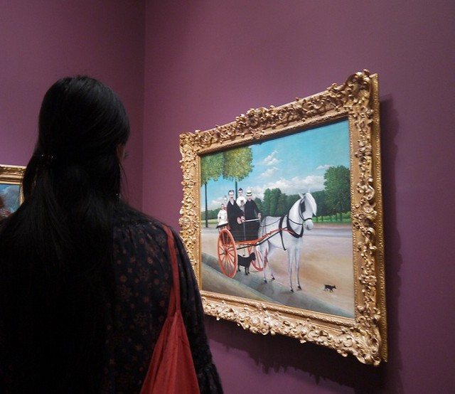 03 在橘园美术馆和我们一起看画的日本女孩,以画插画为生,在东京工作了八年,想学法语就跑来了巴黎